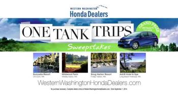 Honda One Tank Trips Sweepstakes TV Spot, 'Western Washington: 2014 Civic' - Thumbnail 8