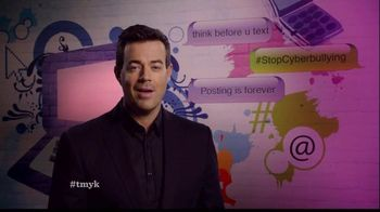 The More You Know TV Spot, 'Cyber Bullying' Featuring Carson Daly - 11 commercial airings