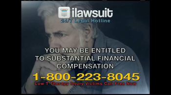iLawsuit Legal Hotline TV Spot, 'Testosterone' - Thumbnail 7