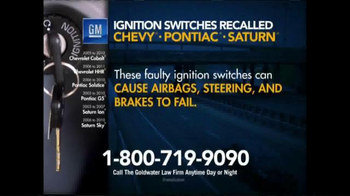 Goldwater Law Firm TV Spot, 'Ignition Switch Recall'