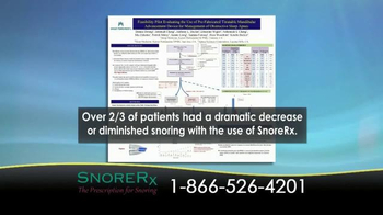 SnoreRx TV Spot, 'Certified Mouthguard for the Treatment of Snoring' - Thumbnail 6
