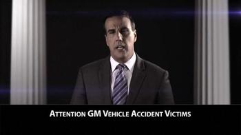 Criden Law Group TV Spot, 'GM Vehicle Accident Victims' - Thumbnail 1