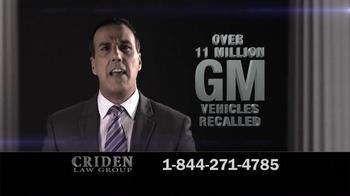 Criden Law Group TV Spot, 'GM Vehicle Accident Victims' - Thumbnail 3