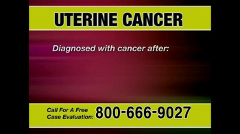 Pulaski & Middleman TV Spot, 'Uterine Cancer' - Thumbnail 2