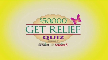 Senokot Tablets TV Spot, '$50,000 Get Relief Quiz' - Thumbnail 2