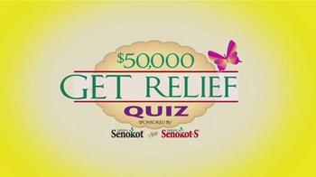 Senokot Tablets TV Spot, '$50,000 Get Relief Quiz' - Thumbnail 3