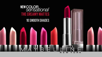 Maybelline New York Color Sensational The Creamy Mattes TV Spot - Thumbnail 10