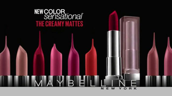 Maybelline New York Color Sensational The Creamy Mattes TV Spot - Thumbnail 3