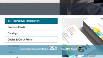 UPS Store 25% Off Online Print Products TV Spot, 'Cards, Flyers and More' - Thumbnail 6