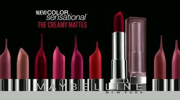 Maybelline New York Color Sensational The Creamy Mattes TV Spot [Spanish] - Thumbnail 3
