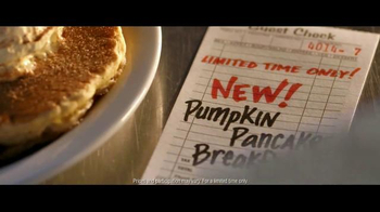 Denny's Pumpkin Pancakes Breakfast TV Spot, 'Pumpkin Season' - Thumbnail 8