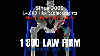 1-800-LAW-FIRM TV Spot, 'Faulty Hip Replacement'