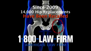 1-800-LAW-FIRM TV Spot, 'Faulty Hip Replacement' - Thumbnail 5