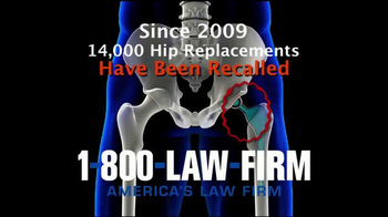 1-800-LAW-FIRM TV Spot, 'Faulty Hip Replacement' - Thumbnail 6