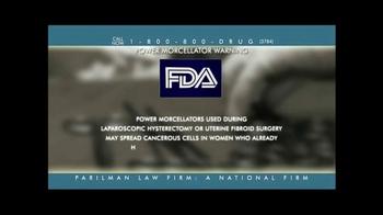 Parilman & Associates TV Spot, 'Power Morcellator Warning' - Thumbnail 3