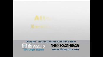 iLawsuit Legal Hotline TV Spot, 'Xarelto Users' - Thumbnail 1