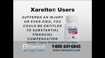 iLawsuit Legal Hotline TV Spot, 'Xarelto Users'