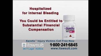 iLawsuit Legal Hotline TV Spot, 'Xarelto Users' - Thumbnail 7