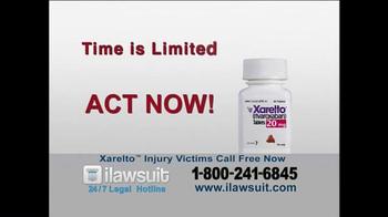 iLawsuit Legal Hotline TV Spot, 'Xarelto Users' - Thumbnail 8