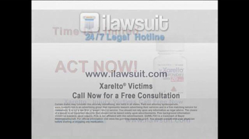 iLawsuit Legal Hotline TV Spot, 'Xarelto Users' - Thumbnail 9
