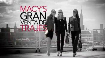 Macy's Gran Venta de Trajes TV Spot, 'Compra más ahora más' [Spanish] - Thumbnail 1