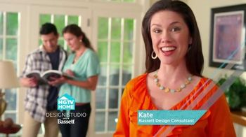 Bassett Custom Furniture Sale TV Spot, 'HGTV Home Design Studio'