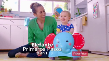Fisher Price Bounce, Stride & Ride Elephant TV Spot, 'Pasos' [Spanish] - Thumbnail 2