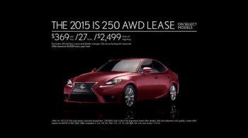 2015 Lexus IS 250 AWD TV Spot, 'Forget The Forecast' - Thumbnail 9