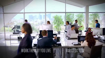 Varidesk Standing Desks TV Spot, 'Out There' - Thumbnail 8