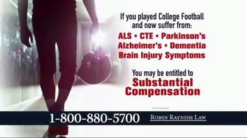 Robin Raynish Law TV Spot, 'Attention Football Players'