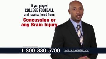 Robin Raynish Law TV Spot, 'Attention Football Players' - Thumbnail 2