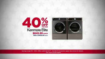 Sears Presidents Day Appliance Event TV Spot, 'Free Delivery' - Thumbnail 2