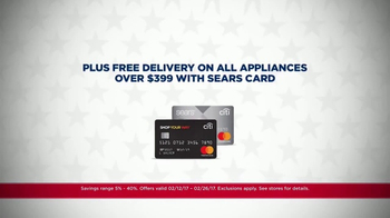 Sears Presidents Day Appliance Event TV Spot, 'Free Delivery' - Thumbnail 4