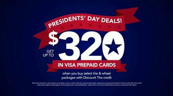 Discount Tire Presidents Day Deals TV Spot, 'Prepaid Cards' - Thumbnail 8