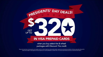Discount Tire Presidents Day Deals TV Spot, 'Prepaid Cards' - Thumbnail 9