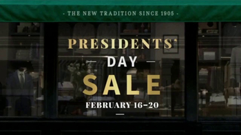 JoS. A. Bank Presidents Day Sale TV Spot, 'Suits, Sport Coats & Sweaters' - Thumbnail 1