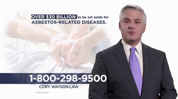 Cory Watson Law TV Spot, 'Asbestos Related Diseases'