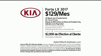 Kia Evento Presidents Day TV Spot, '2017 Forte LX: Venta' [Spanish] [T2] - Thumbnail 6