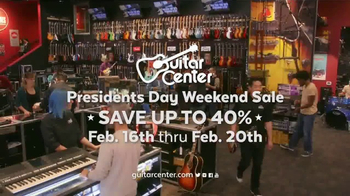 Guitar Center Presidents Day Weekend Sale TV Spot, 'Acoustic-Electric Guitars' - Thumbnail 10