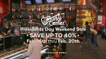 Guitar Center Presidents Day Weekend Sale TV Spot, 'Acoustic-Electric Guitars' - Thumbnail 9