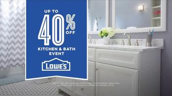 Lowe's Kitchen & Bath Event TV Spot, 'The Moment: Vanity' - Thumbnail 7