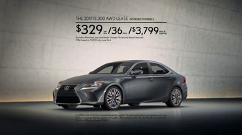 2016 Lexus IS 300 AWD TV Spot, 'Conquer the Weather' [T2] - Thumbnail 7