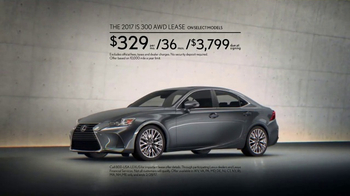 2016 Lexus IS 300 AWD TV Spot, 'Conquer the Weather' [T2] - Thumbnail 8