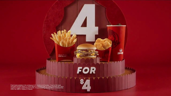 Wendy's 4 for $4 TV Spot, 'Double Stack Option: Flying Squirrels' - Thumbnail 4