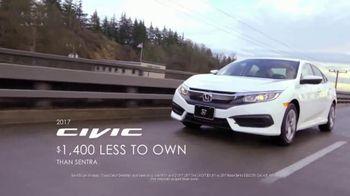 Honda Presidents' Day Sales Event TV Spot, 'Thousands Less' [T2]