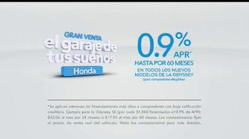 Honda Gran Venta El Garaje de Tus Sueños TV Spot, '2016 Odyssey' [Spanish] - Thumbnail 9