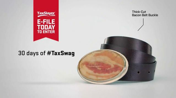 TaxSlayer.com TV Spot, '30 Days of Tax Swag: Bacon Belt Buckle' - Thumbnail 3
