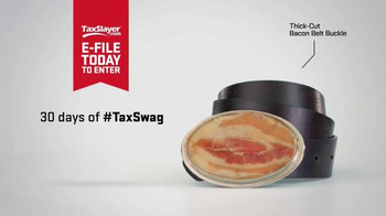 TaxSlayer.com TV Spot, '30 Days of Tax Swag: Bacon Belt Buckle' - Thumbnail 4