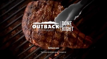 Outback Steakhouse Natural Cut Bone-In Ribeye TV Spot, 'Sizzle' - Thumbnail 6