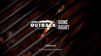 Outback Steakhouse Natural Cut Bone-In Ribeye TV Spot, 'Sizzle' - Thumbnail 5